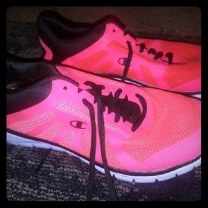 Champion hot pink running shoes
